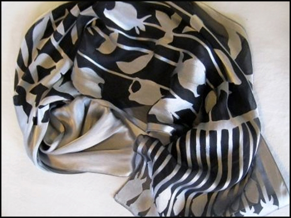 Cabena, Carolyn - devore silk satin scarf